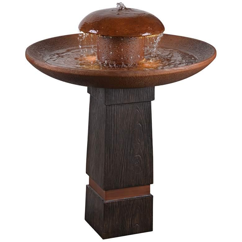 "Oswego 31 1/2"" High Rustic Modern Rain Fountain with Light"