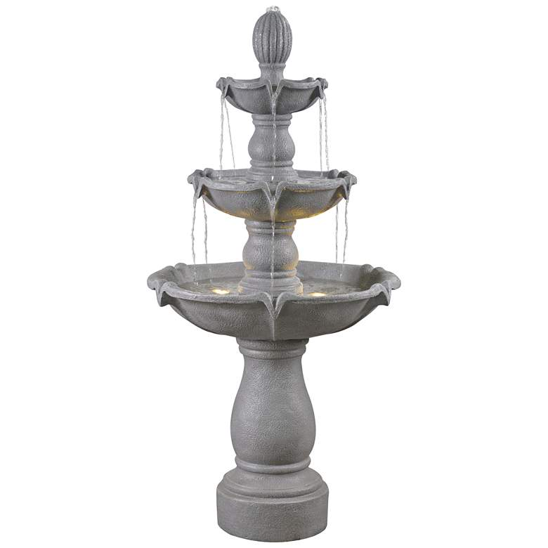 """Villa 62"""" High Traditional Outdoor Fountain with Lights"""
