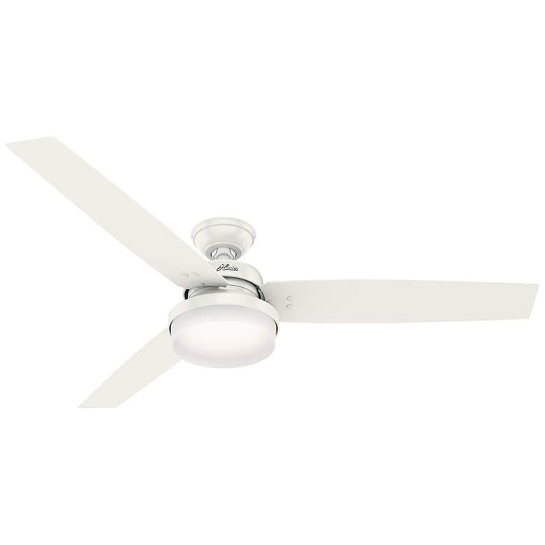 """60"""" Hunter Sentinel Fresh White LED Ceiling Fan"""