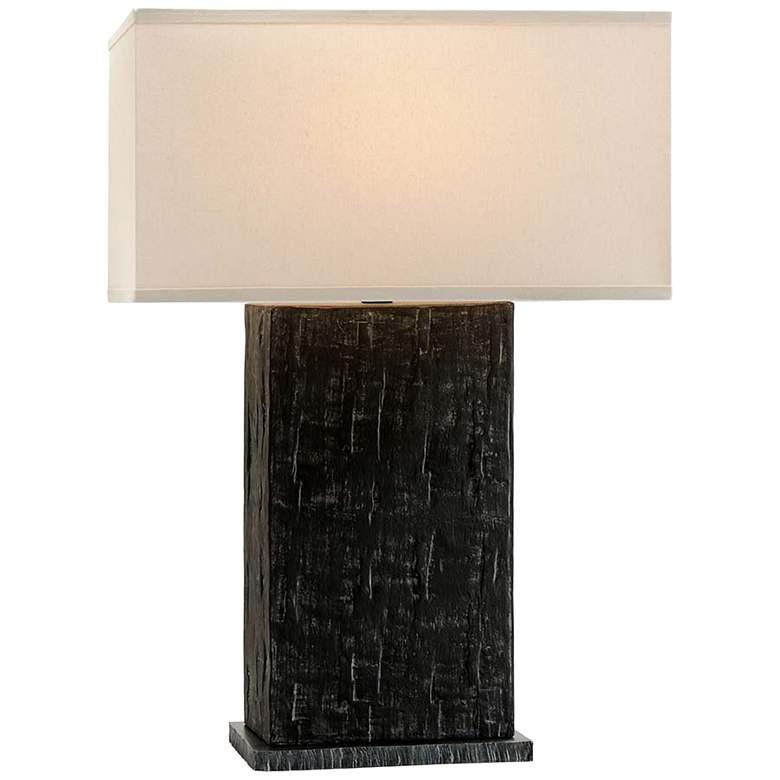 La Brea Anthracite Ceramic Rectangular Table Lamp