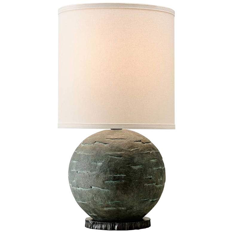 La Brea Limestone Ceramic Sphere Accent Table Lamp