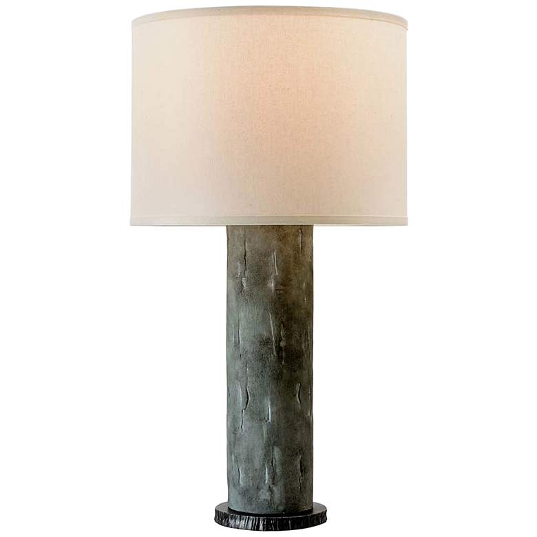 La Brea Slate Ceramic Cylinder Table Lamp