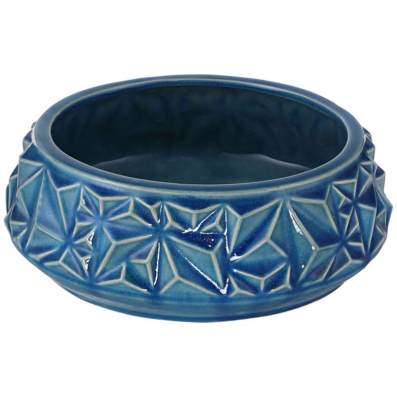 "Telus 9 1/4"" Wide Light Blue Ceramic Bowl"