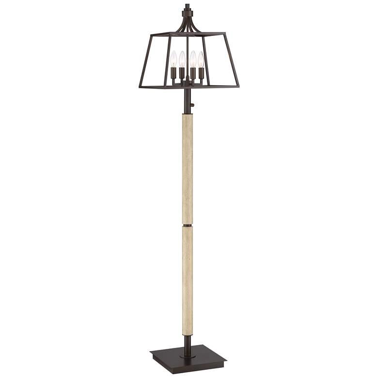 Hamlin Rustic Farmhouse 4-Light LED Floor Lamp
