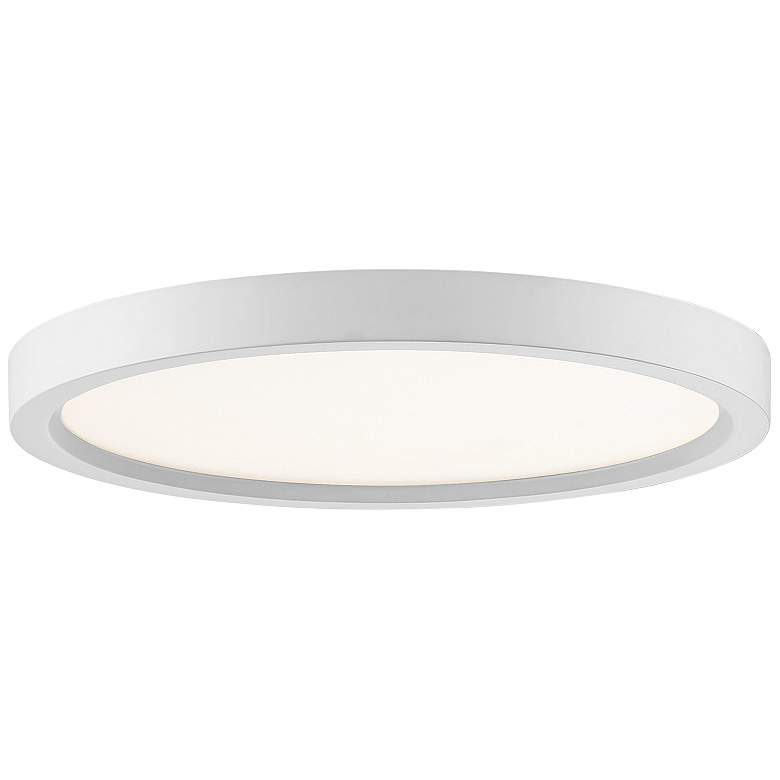 "Quoizel Outskirt 11"" Wide White Lustre LED Ceiling Light"