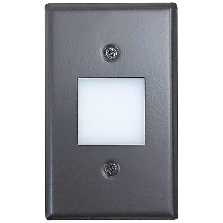 """Nora 2 3/4"""" Wide Bronze Lensed LED Mini Step Light"""