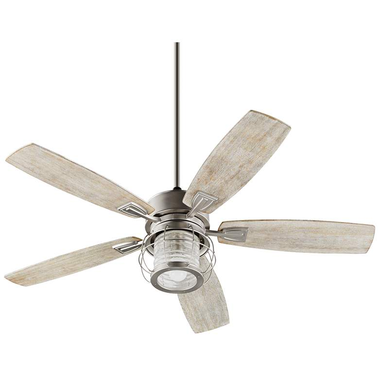 "52"" Quorum Galveston Satin Nickel Ceiling Fan"