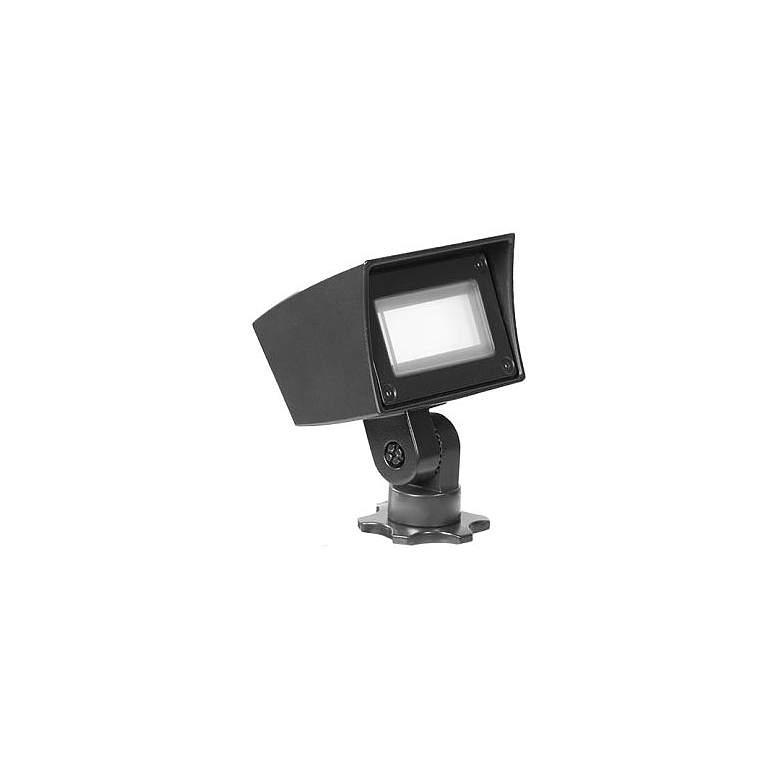 """WAC Dual CCT 4 1/2"""" High Black 12V LED Mini Flood Light"""