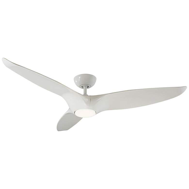 "60"" Modern Forms Morpheus III White LED Wet Ceiling Fan"