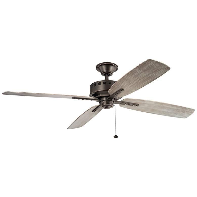 """65"""" Kichler Eads Patio XL Olde Bronze Outdoor Ceiling Fan"""