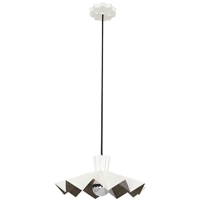 """Rico Espinet Bat 16"""" Wide Lily Painted Pendant Light"""