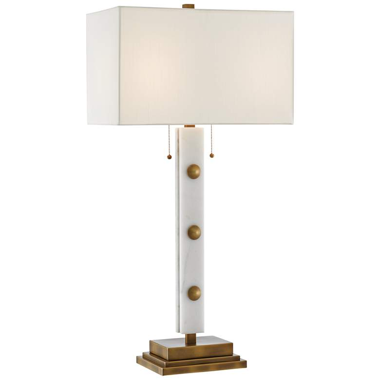 Currey and Company Khalil White Marble Table Lamp