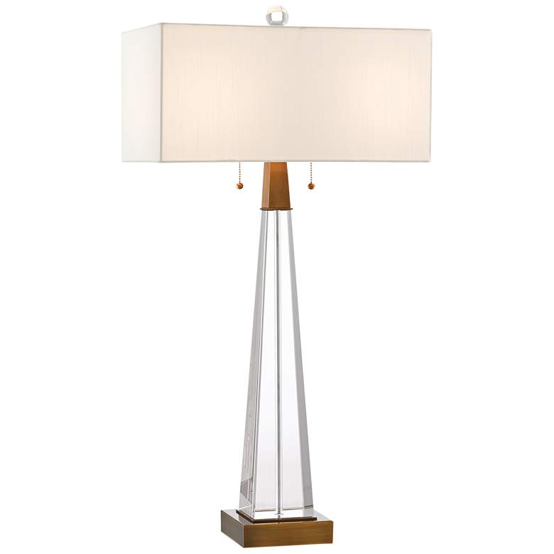 Currey and Company North Clear Optic Crystal Table Lamp