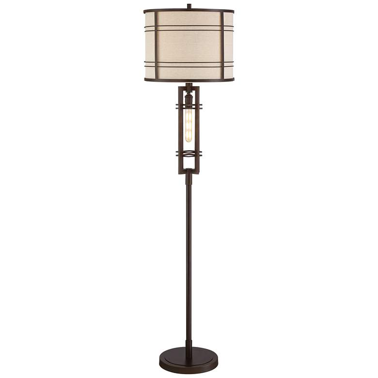 Elias Oil-Rubbed Bronze Floor Lamp with LED Night Light