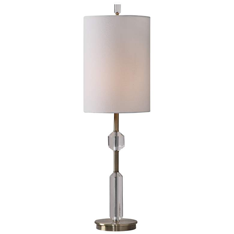 Uttermost Margo Steel and Crystal Buffet Table Lamp