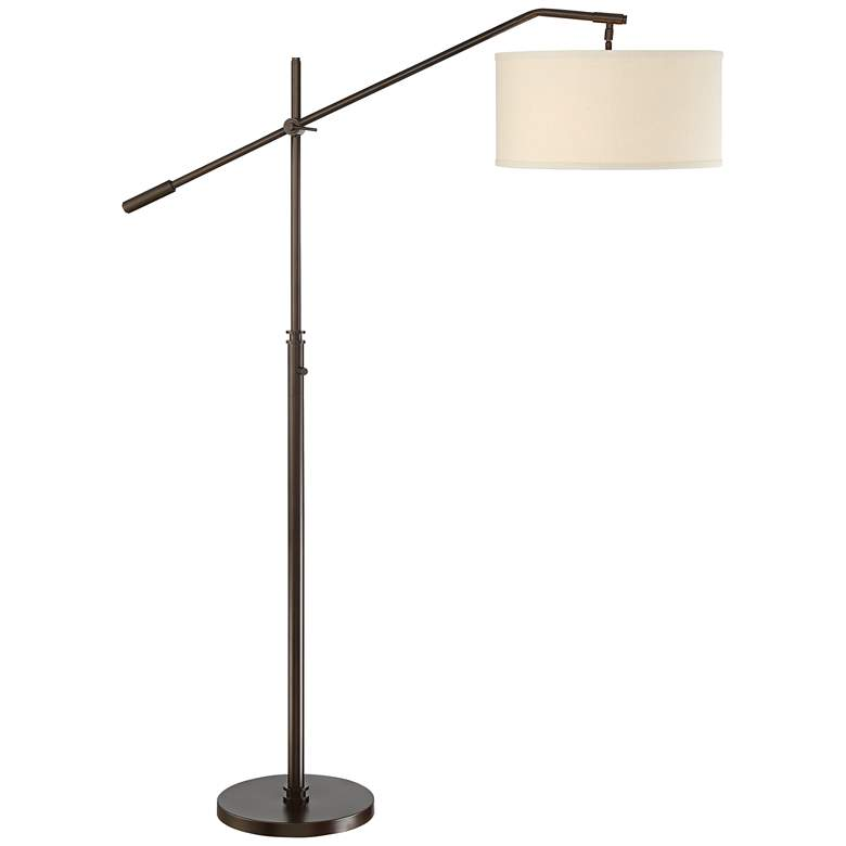 Possini Euro Holden Oil-Rubbed Bronze Boom Arm Floor Lamp