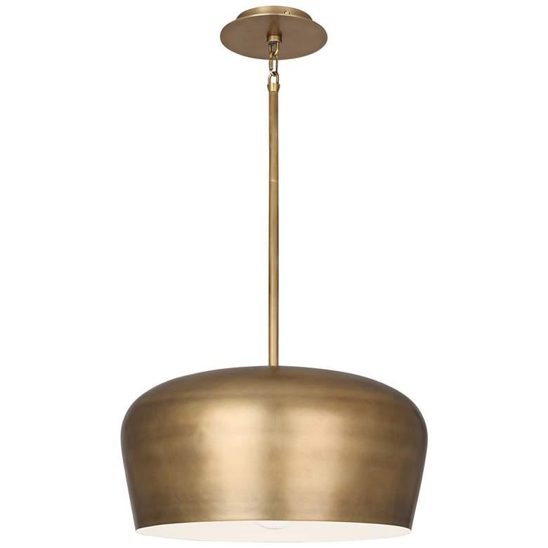 "Rico Espinet Bumper 18 1/2"" Wide Warm Brass Pendant Light"