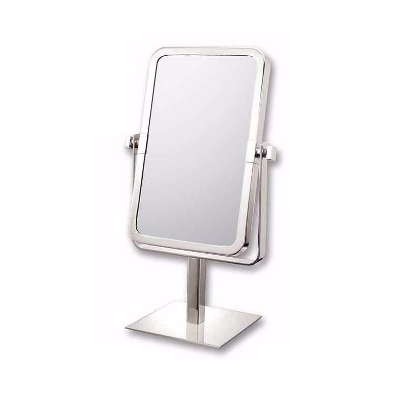 """Brushed Nickel 6 3/4"""" x 9 3/4"""" Vanity Stand Mirror"""