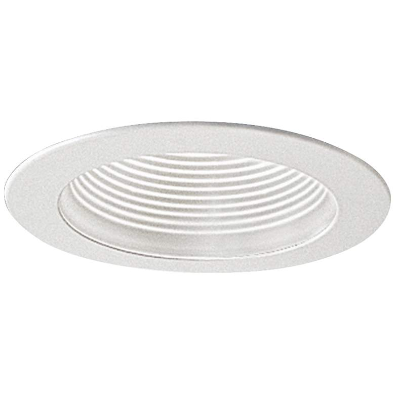 """Nora 4"""" Wide White Adjustable Stepped Baffle Recessed"""