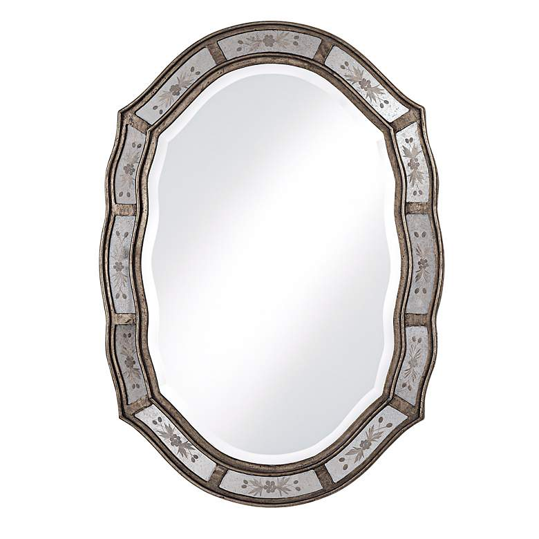 """Uttermost Fifi Antique Gold Etched 25"""" x 35"""" Wall Mirror"""