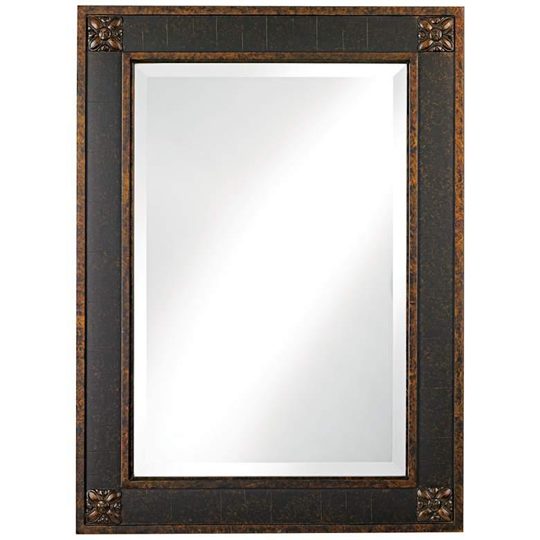 """Uttermost Bergamo Chestnut Brown 28"""" x 38"""" Wall Mirror"""