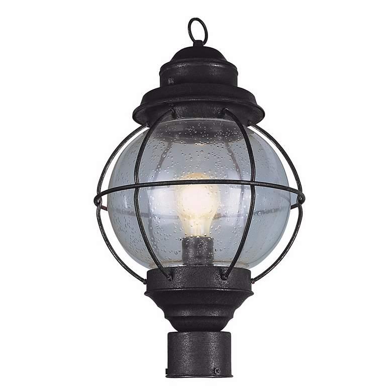 """Tulsa Lantern 19"""" High Black Outdoor Post Light Fixture"""