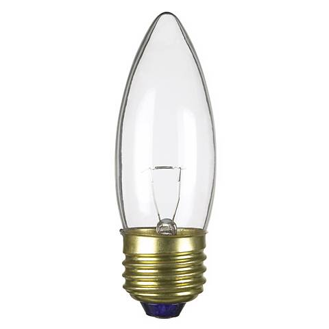 Medium Base 40-Watt Clear Torpedo Light Bulb