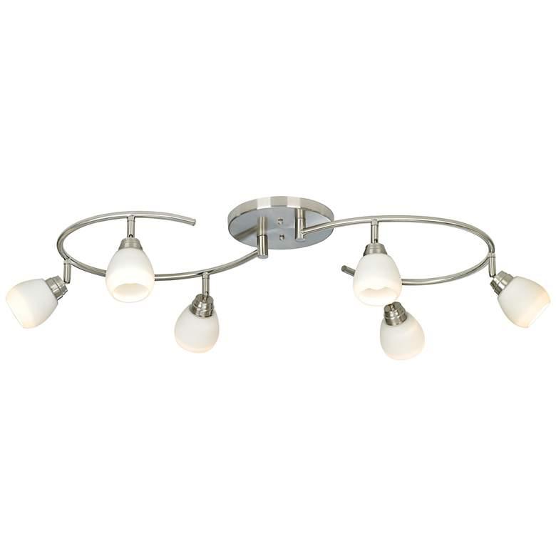 LED Pro Track® White Glass 6-Light Mini S-Wave Track Kit