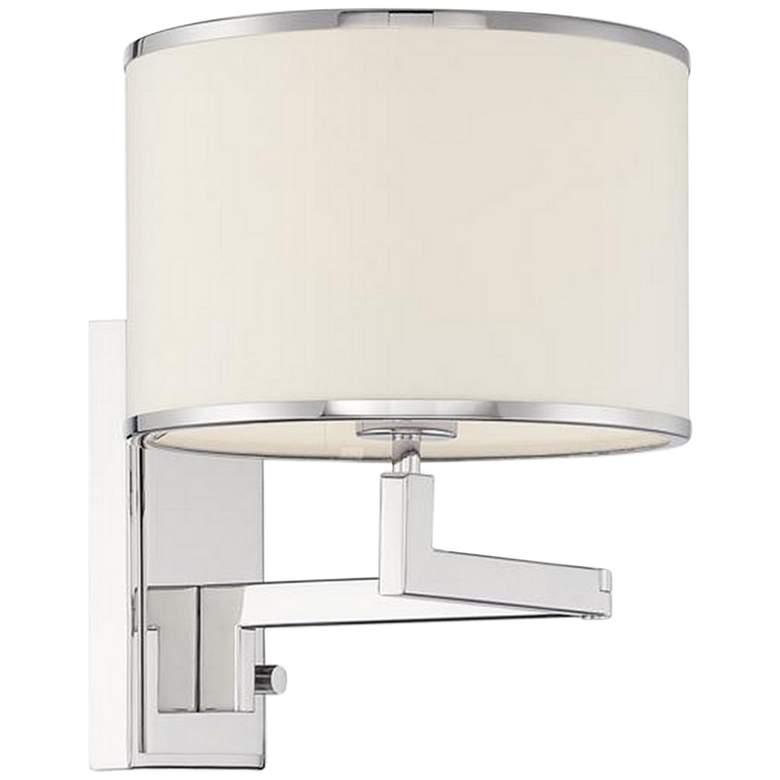 Madision Nickel Plug-In/Hardwire Swing Arm Wall Lamp