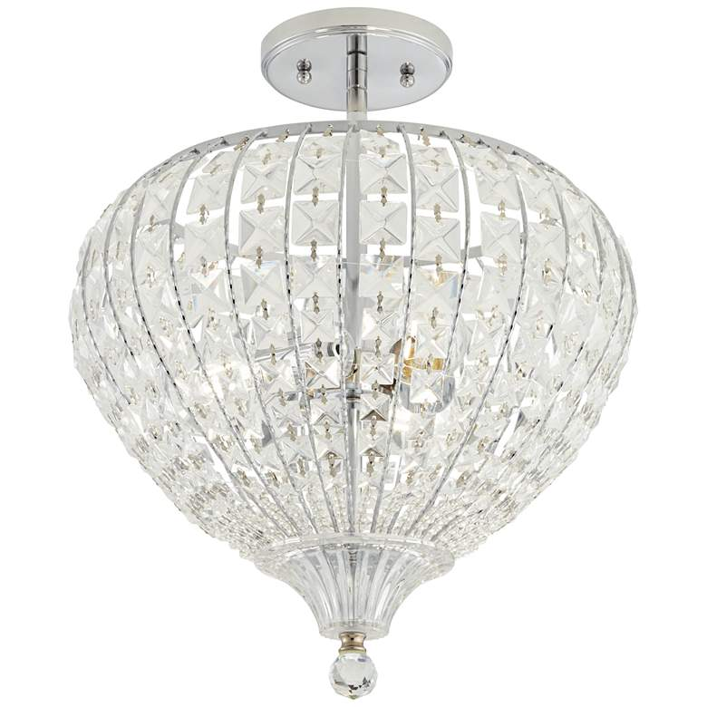 "Marisse 14 1/2"" Wide 3-Light Crystal Pendant Light"