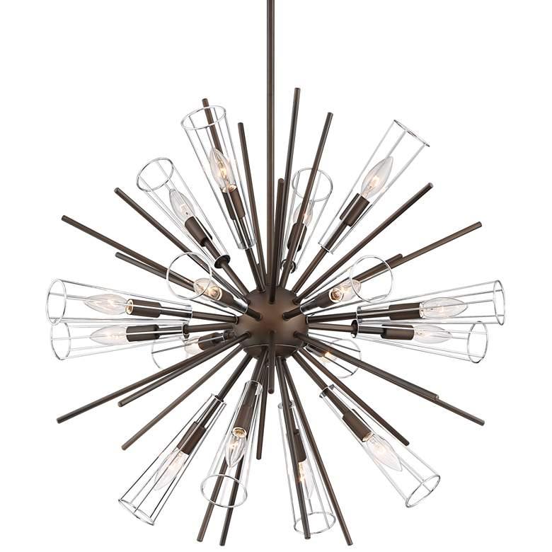 "Possini Euro Cygnus 29 1/4""W Bronze Sputnik 16-Light Pendant"
