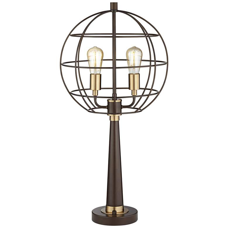 Memphis Oil-Rubbed Bronze Industrial Globe LED Table Lamp