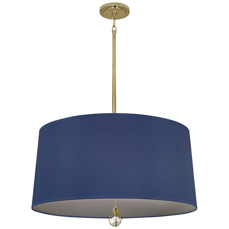 """Custis Collection 25 1/2""""W Ink Blue and Carter Gray Pendant"""