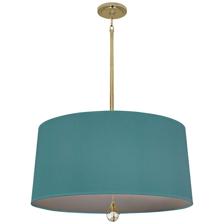 """Custis Collection 25 1/2""""W Mayo Teal and Carter Gray Pendant"""