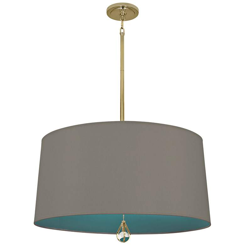 """Custis Collection 25 1/2""""W Carter Gray and Mayo Teal Pendant"""