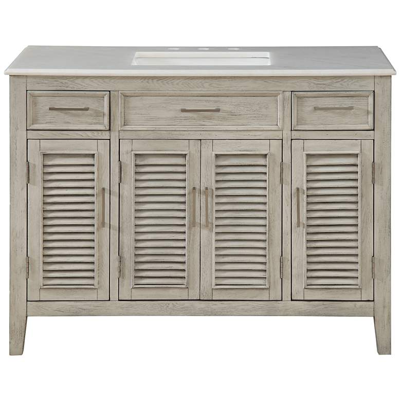 """Hampshire 46"""" Wide Ash and Marble Single Sink Vanity"""