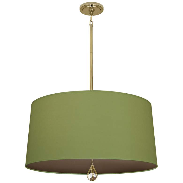 """Custis Collection 25 1/2""""W Parrot Green and Storm Pendant"""