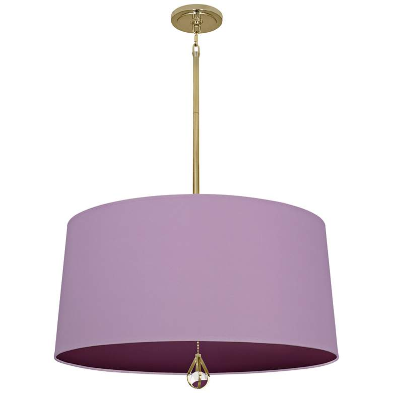 """Custis Collection 25 1/2""""W Ludwell Lilac and Grape Pendant"""