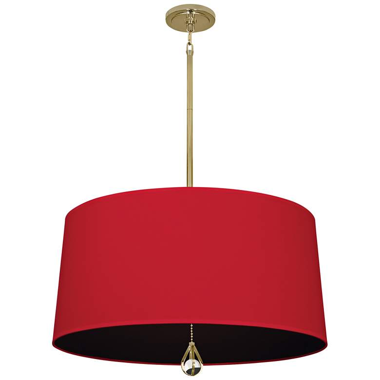 """Custis Collection 25 1/2""""W Richmond Red and Black Pendant"""