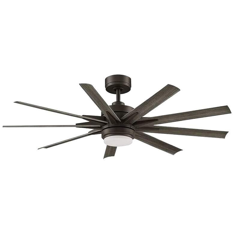 """56"""" Fanimation Odyn Custom Matte Greige LED Ceiling Fan"""