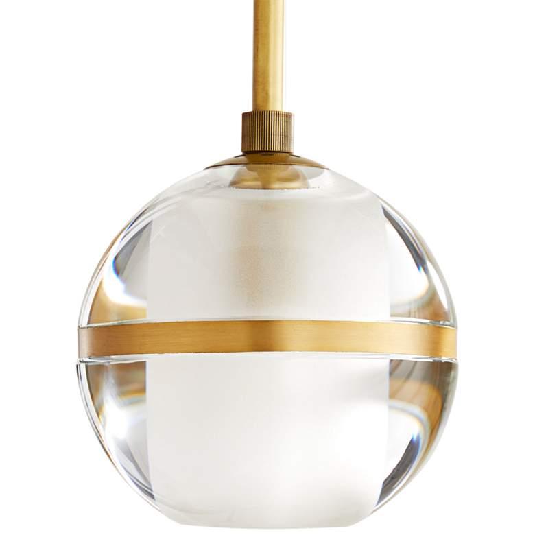 "Arteriors Home Noble 6""W Clear Crystal Globe Mini Pendant"