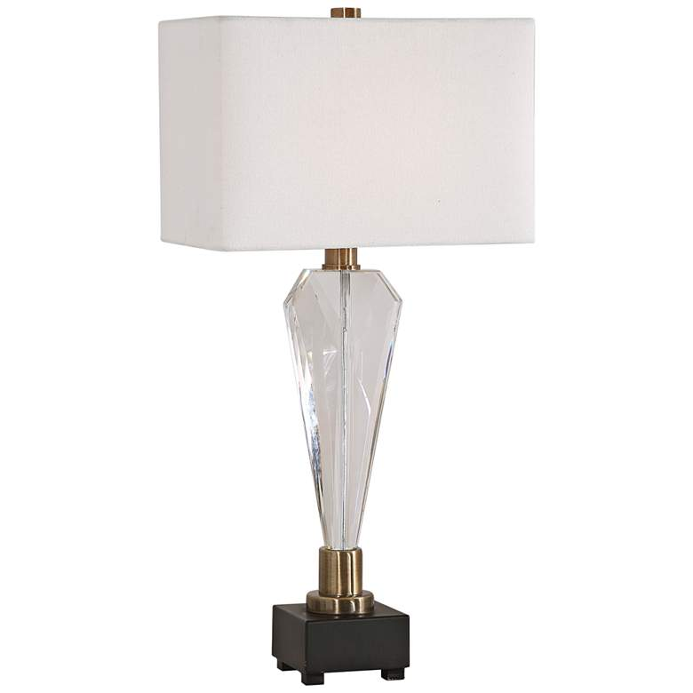 Uttermost Cora Geometric Crystal Table Lamp