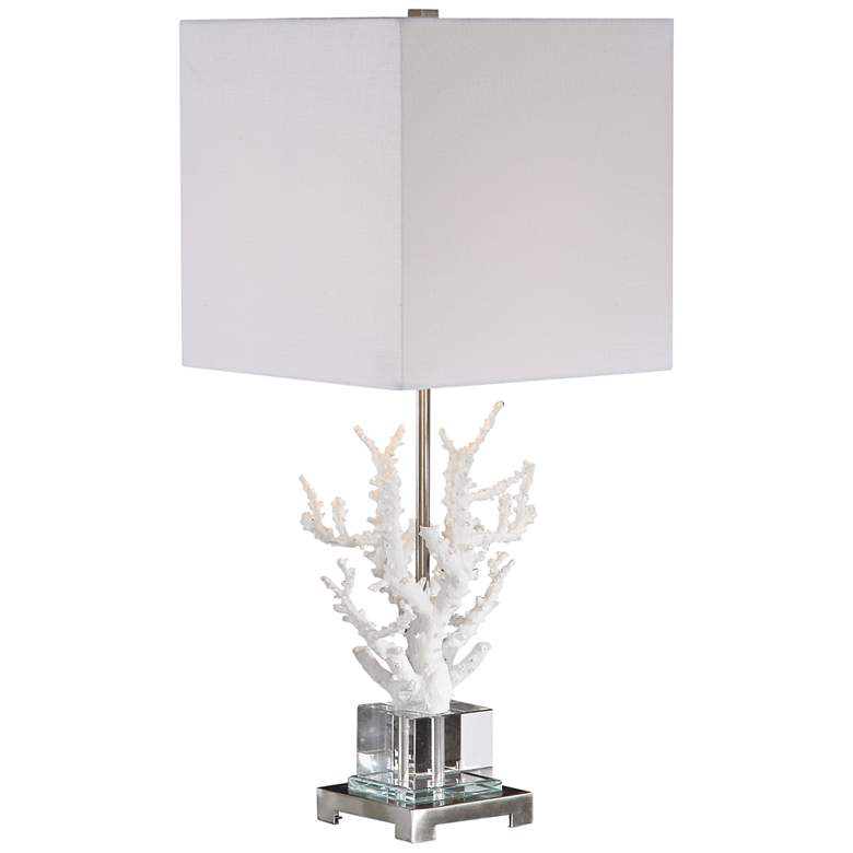 Uttermost Corallo White Coral Branch Buffet Table Lamp