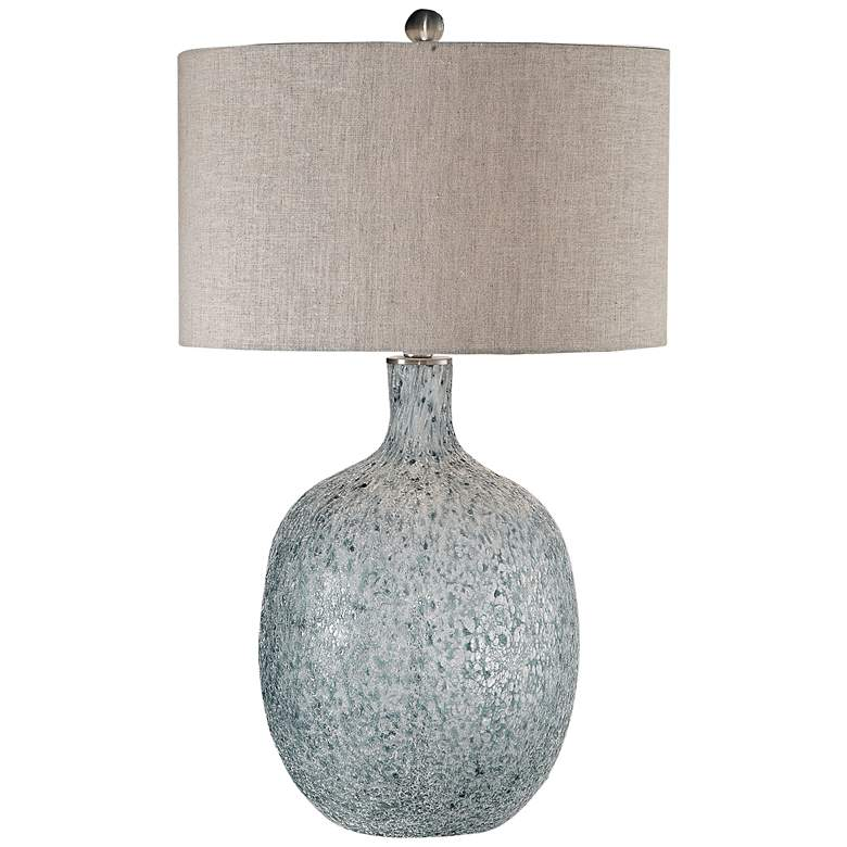 Oceaonna Blue and Aged White Glaze Glass Table Lamp