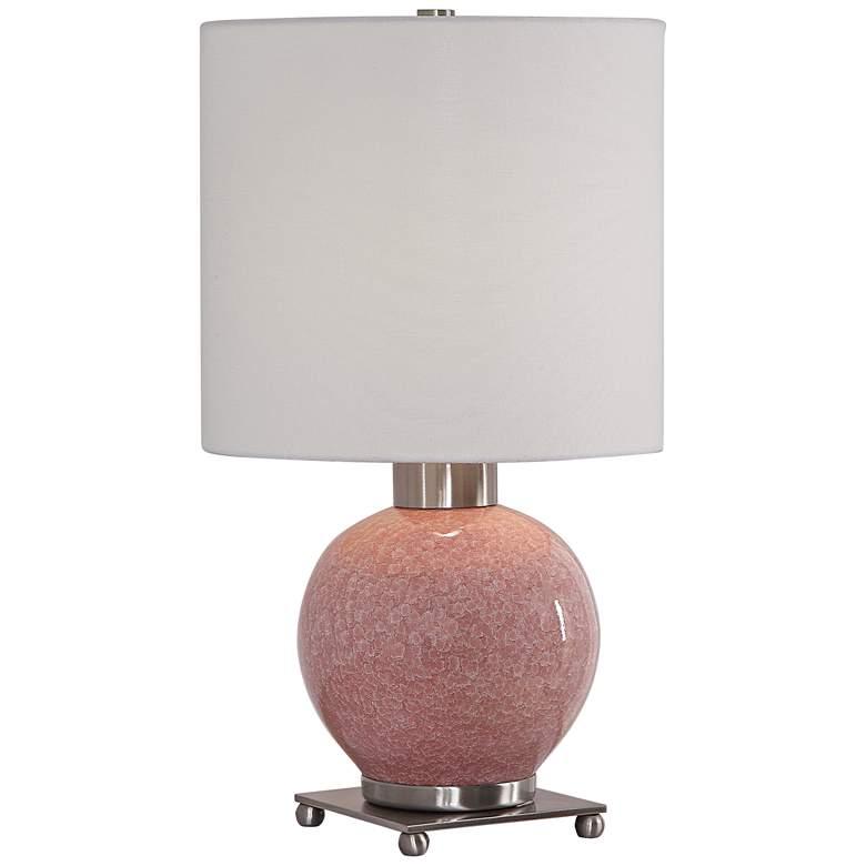 Uttermost Rhoda Pink Glaze Ceramic Buffet Accent Table Lamp