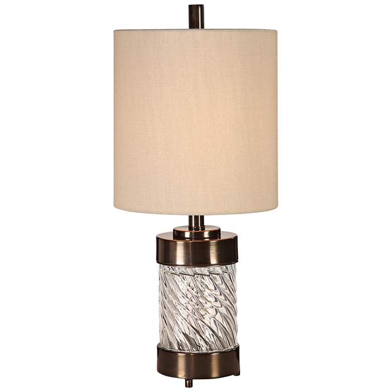 Uttermost Thorton Wavy Glass Buffet Accent Table Lamp