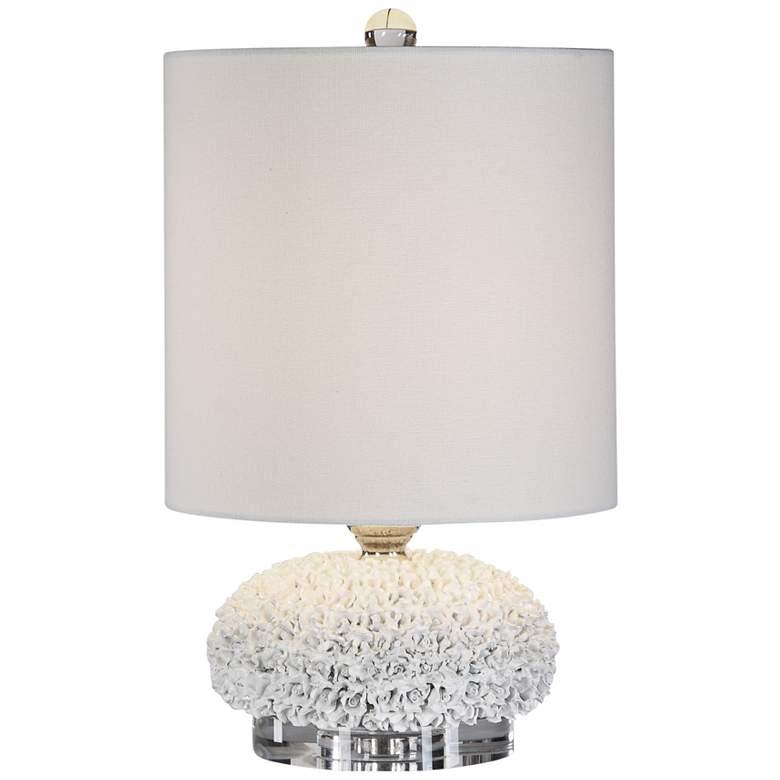 """Uttermost Dellen Floral 17 1/4""""H Buffet Accent Table Lamp"""