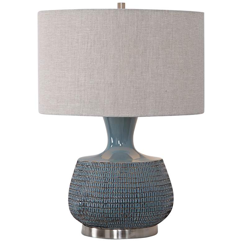 Uttermost Hearst Blue Glaze Ceramic Table Lamp