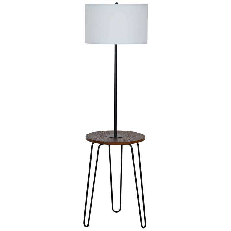 Sedna Black Tripod Floor Lamp with Tray Table