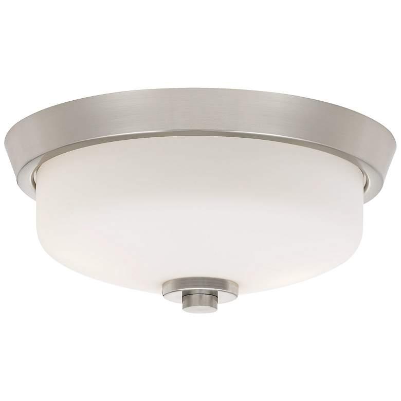 "Quoizel Radius 13"" Wide Brushed Nickel Ceiling Light"